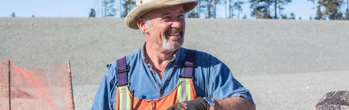 Comox Valley Waste Management Centre employee on shift at the landfill